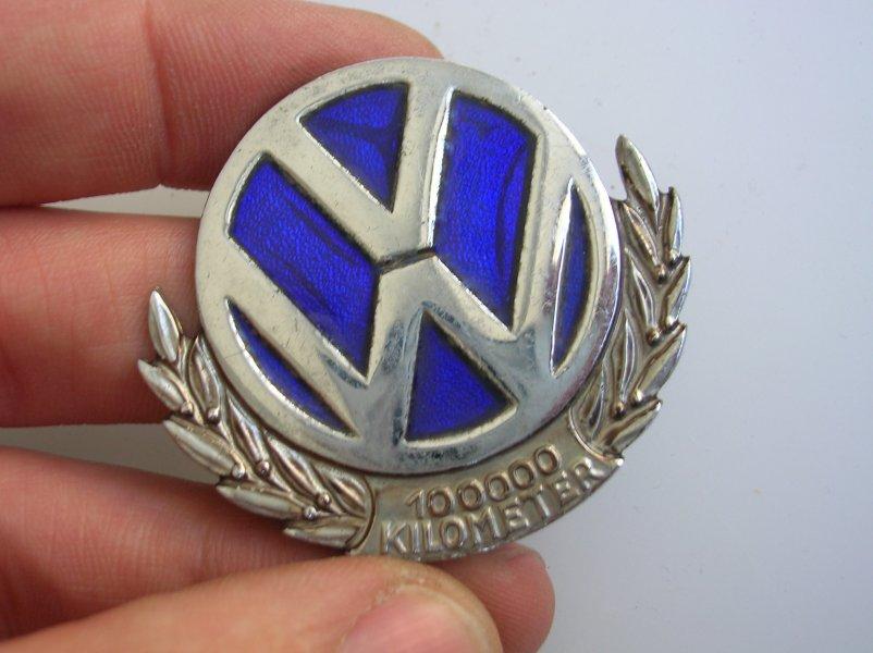 Buy Volkswagen Badge Plakette 100000 Km Kilometer Vw Cox