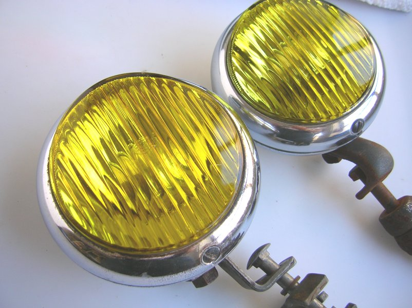 Find Hella Body Fog Lamp Light Yellow Chrome Porsche 356